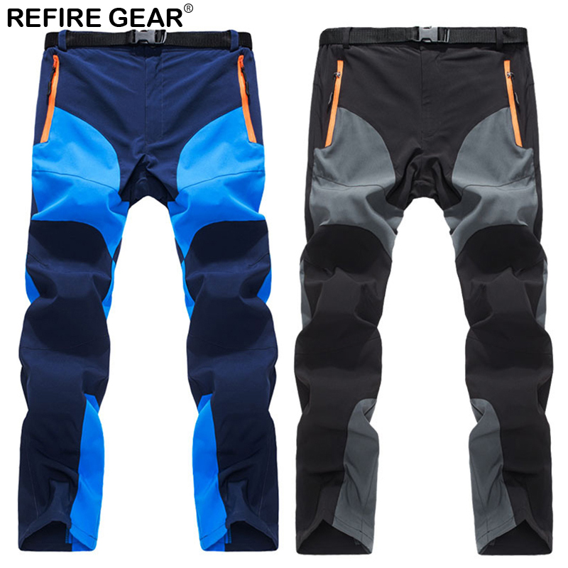 ReFire Gear Summer Outdoor Sport Pants Men Quick Dry Waterproof Breathable Hiking Trousers Elastic Climb Trekking Camping Pants dropshipping thin hiking pants men sports pants quick dry breathable outdoor trousers waterproof mountain trekking pant