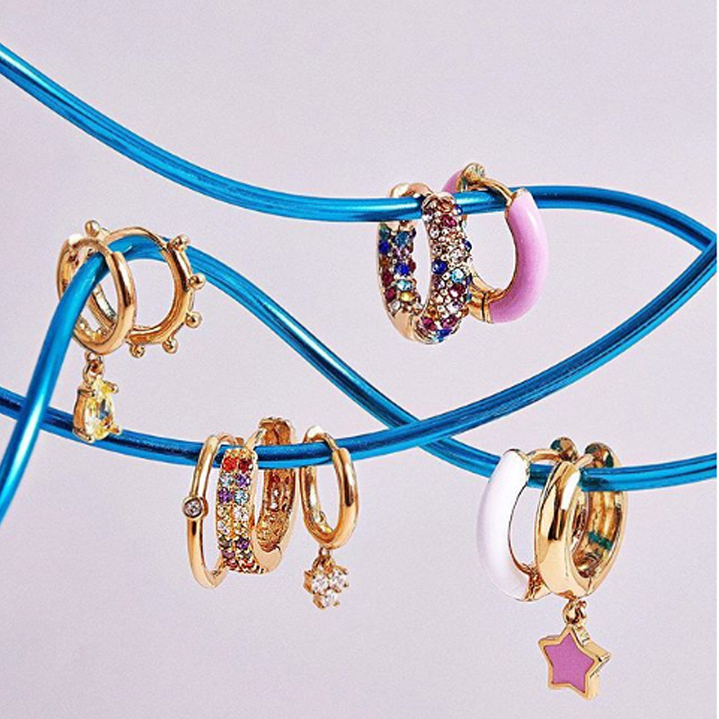 Hoop simple color earring 20 designs new arrive top quality factory wholesale elegance lovely girl christmas gift locket