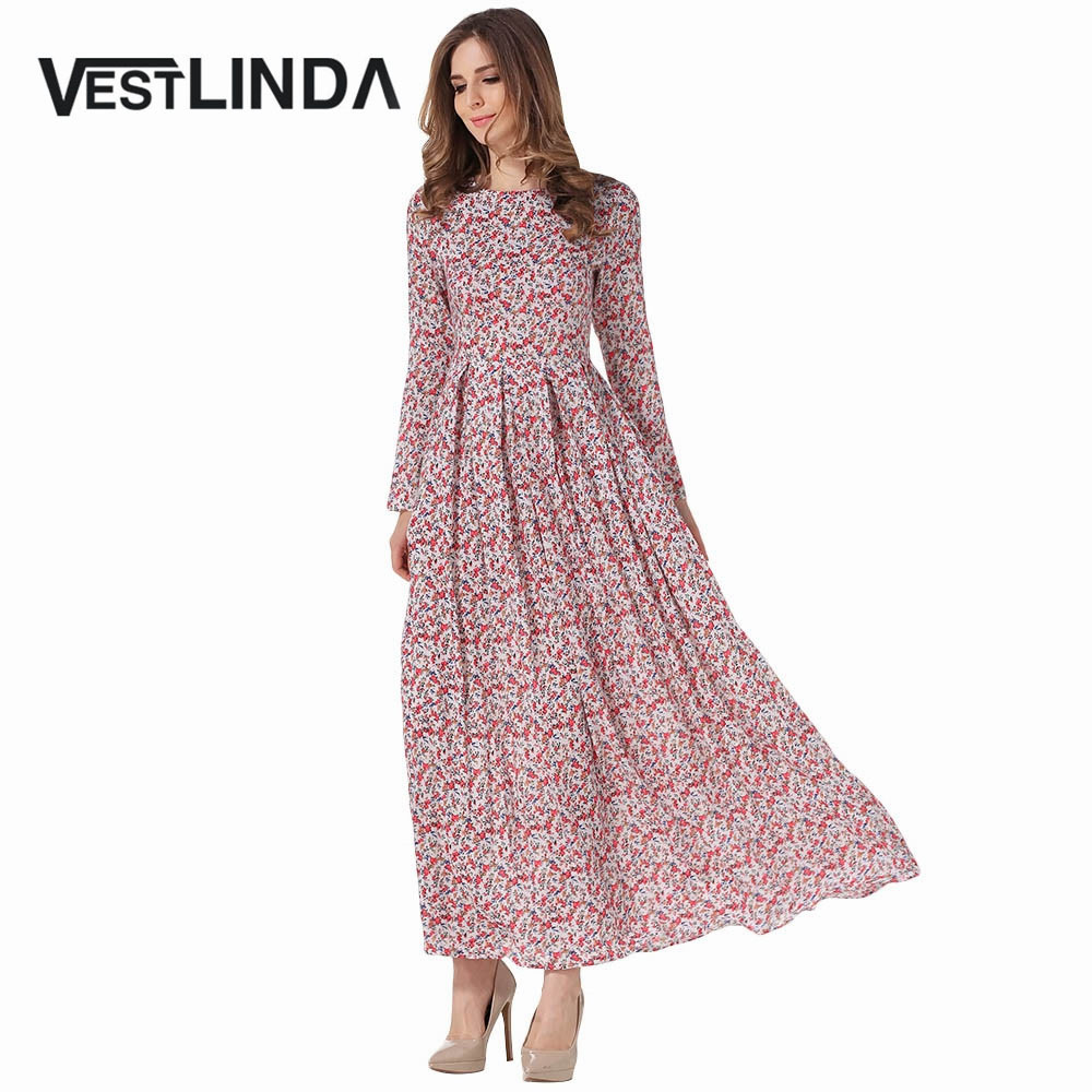 Long spring dresses with sleeves