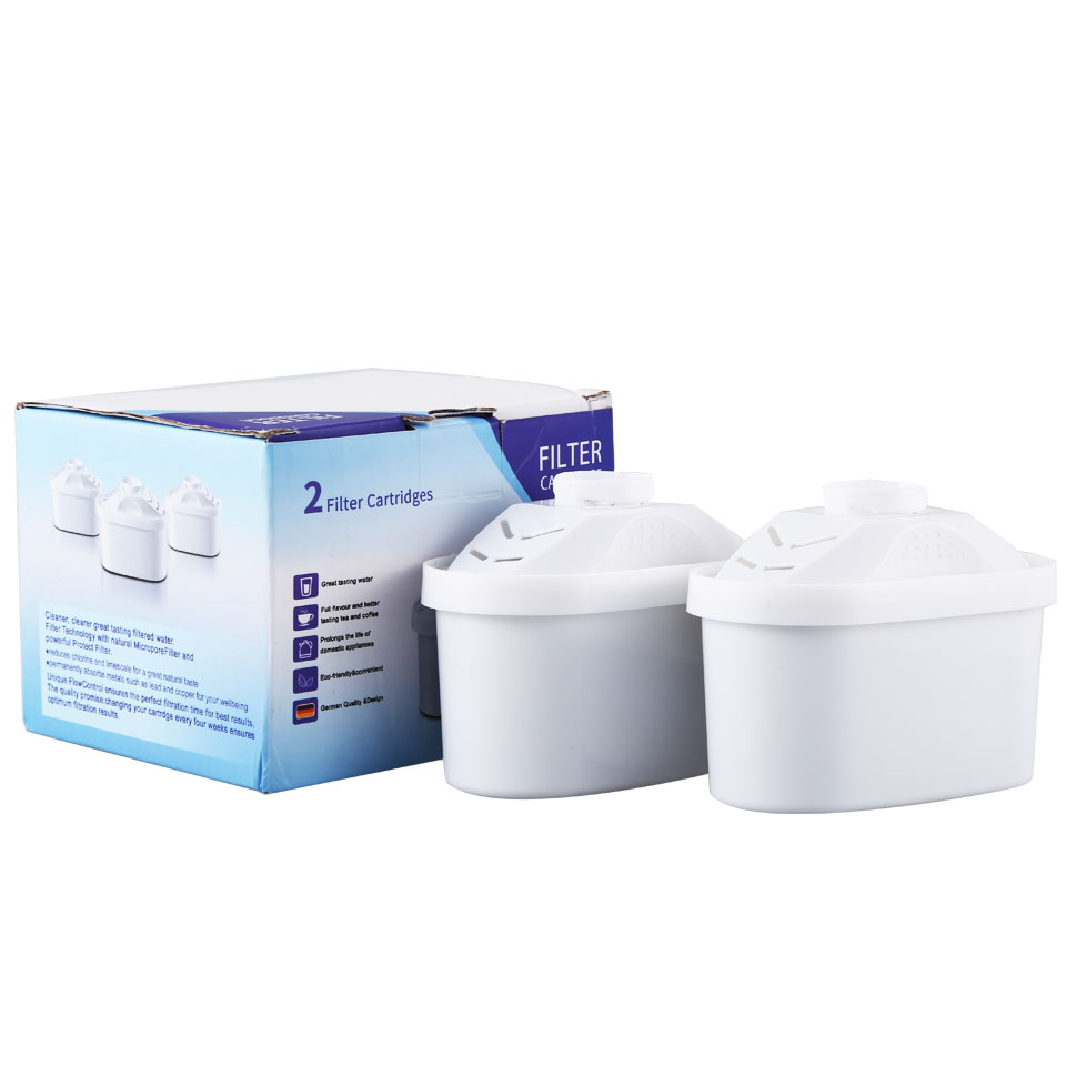 New Water Filters Replacement 2Pcs/Lot For Brita Water Pitcher Filter Replacement General Use Activate Carbon Water Filter