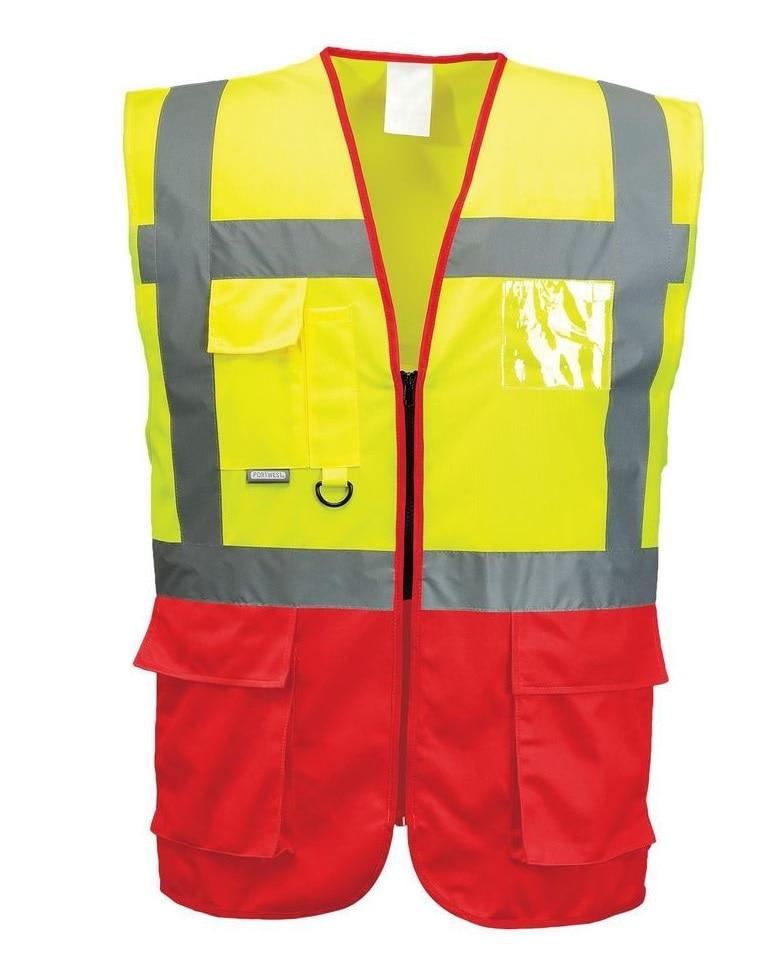 Manufacturers supply orange European standard reflective vest printable words