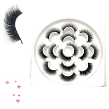 14 Pcs/Box Handmade 3D100% Mink False Eyelashes Natural Long Thick Fake Women Extension Makeup Kit Hot