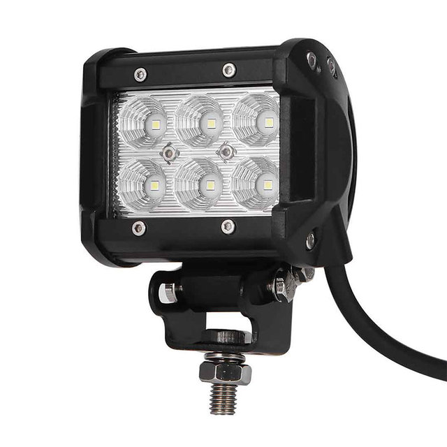 18w cree chips led offroad driving work spot light bar truck boat 18w cree chips led offroad driving work spot light bar truck boat ute car led lamp mozeypictures Gallery
