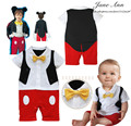 Baby infant bow ties romper  short sleeve rompers baby boy cartoon jumpsuit  character clothing toddler Wearing