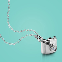 Female 925 Sterling Silver Necklace Creative Design Camera Pendant Necklace 46cm Solid Silver Necklace Girl Charm