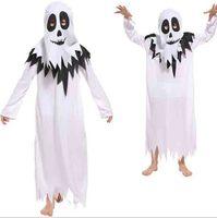 Children`s Ghost Skeleton Cosplay Halloween Carnival Costume Kids Boys Vampire Demon Costume Playsuit Party Fancy Dress For Boys