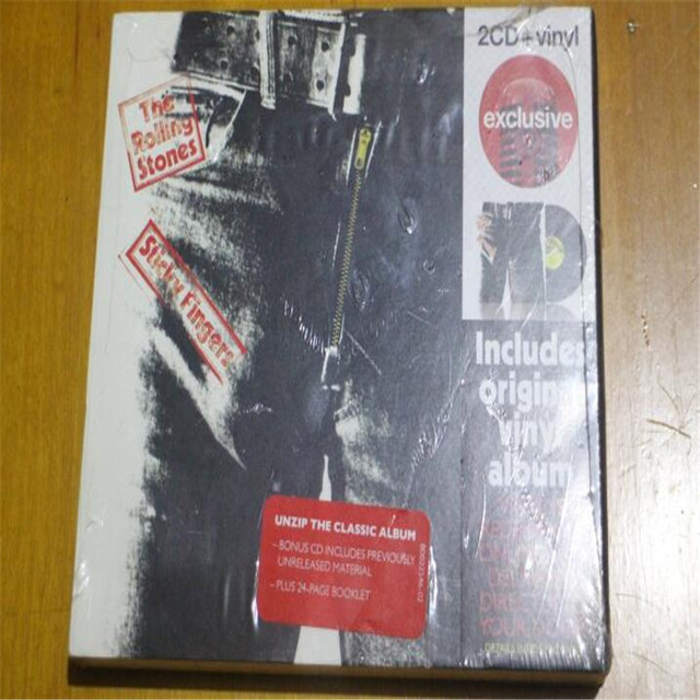 Free Shipping; The Rolling Stones Sticky Fingers Deluxe 2CD Sealed New Sealed