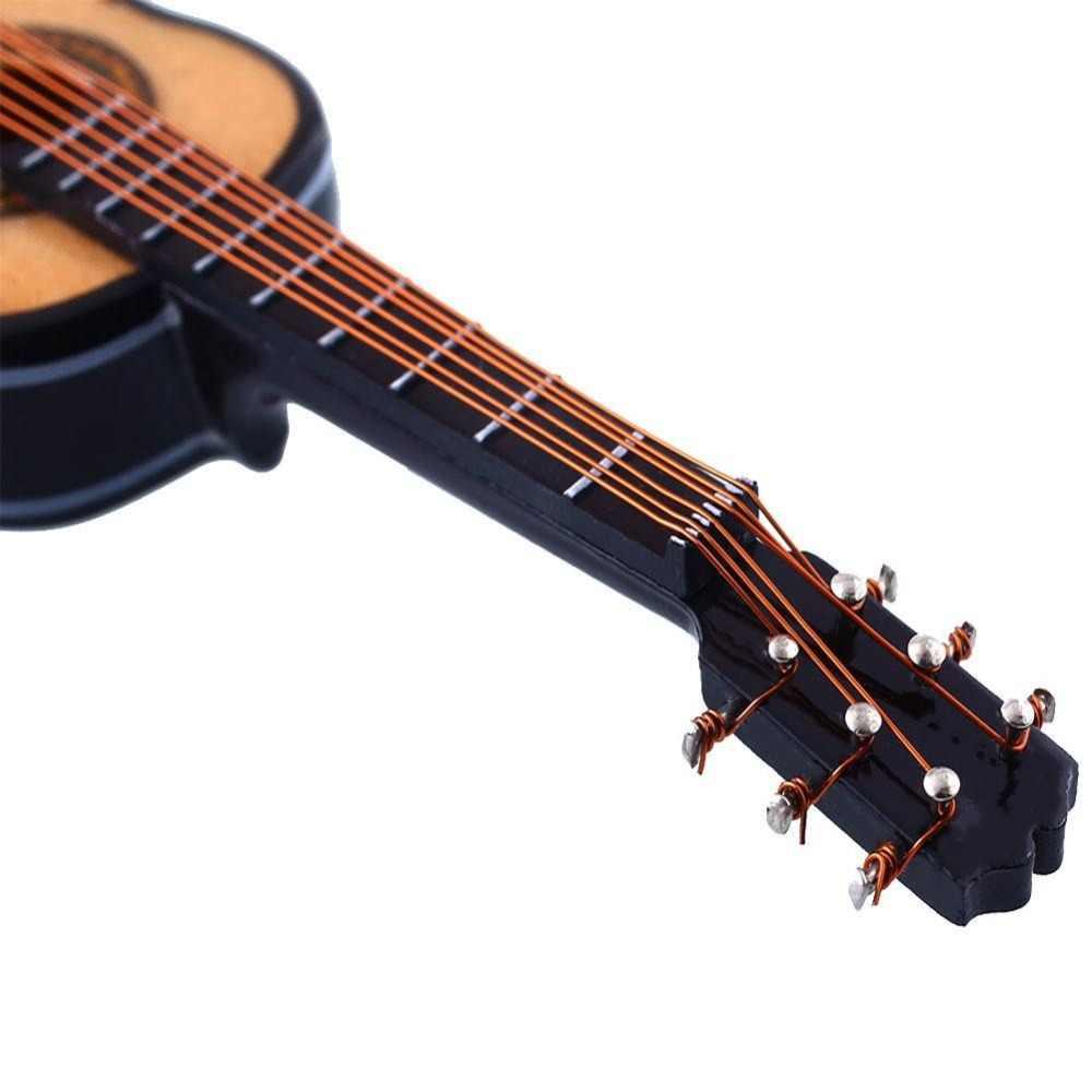 1:12 Dollhouse Miniature Guitar with Case// Miniature Bass Miniature Instrument C