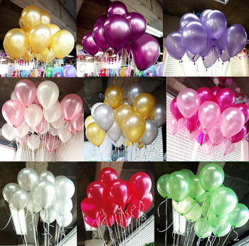 10Pcs birthday balloons 10inch 1.5g Latex Helium balloon Thickening Pearl party balloon Party Ball kid child toy wedding ballons 1