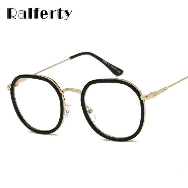 5378251c2f44c Ralferty W Stylu Vintage Kobiety Mężczyźni Przezroczyste Okulary Okrągłe Ramki  Okulary Korekcyjne Optyczne Ramki óculos de