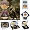 Monedas originales de la Segunda Guerra Mundial chapadas en oro, soporte de Metal coleccionable, moneda de desafío, regalo creativo, envío directo