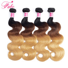 FABC hair Peruvian Hair Bundles 1b/4/27 non-remy ombre hair bundles 100% human hair weaving 4pcs/lot(China)
