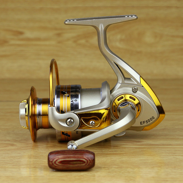 Metall Spool Spinning Reel Fisk Salt Vatten Fiske Reel Carretilha Pesca Wheel 10Ball Bearing 5.5: 1