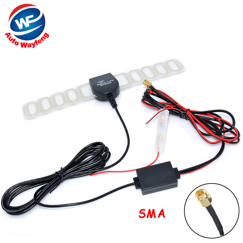 Car Digital TV Active Antenna Mobile Car Digital DVB-T ISDB-T Aerial with a Amplifier Booster Factory Selling