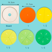 Preschool Circular Mathematics Fraction Board Division Teaching Aids Montessori Education Math Toy Children Learning tool Toy