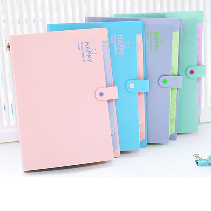 A4 Paper File Folder Document Filing Stationery Bag School Office Supply Durable Briefcase 12 Pockets Folders Organizer