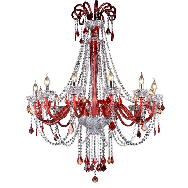 Home red glass chandelier for bar coffee shop led home red glass chandelier for bar coffee shop led luminaire european dining room pendant crystal chandelier lustres de cristal mozeypictures Image collections