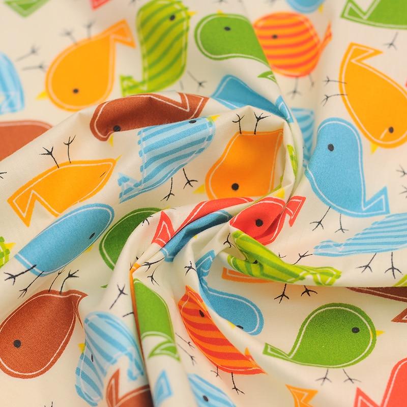 Bird style Curtain cloth baby bedding cartoon 100% cotton cloth cotton twill fabric 150*50CM A1-1-2