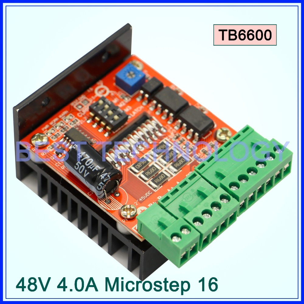 TB6560AHQ chip TB6600 stepper motor driver board ! stepping motor single axis cnc controller 12-48VDC 4.5A!!! 4a integrated stepper motor controller pc control single axis 42 57 stepping motor driver cnc