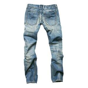 Image 4 - Джинсы gerшри мужские прямые, повседневные Узкие хлопковые брюки из денима, теплые джинсы, розничная и оптовая продажа