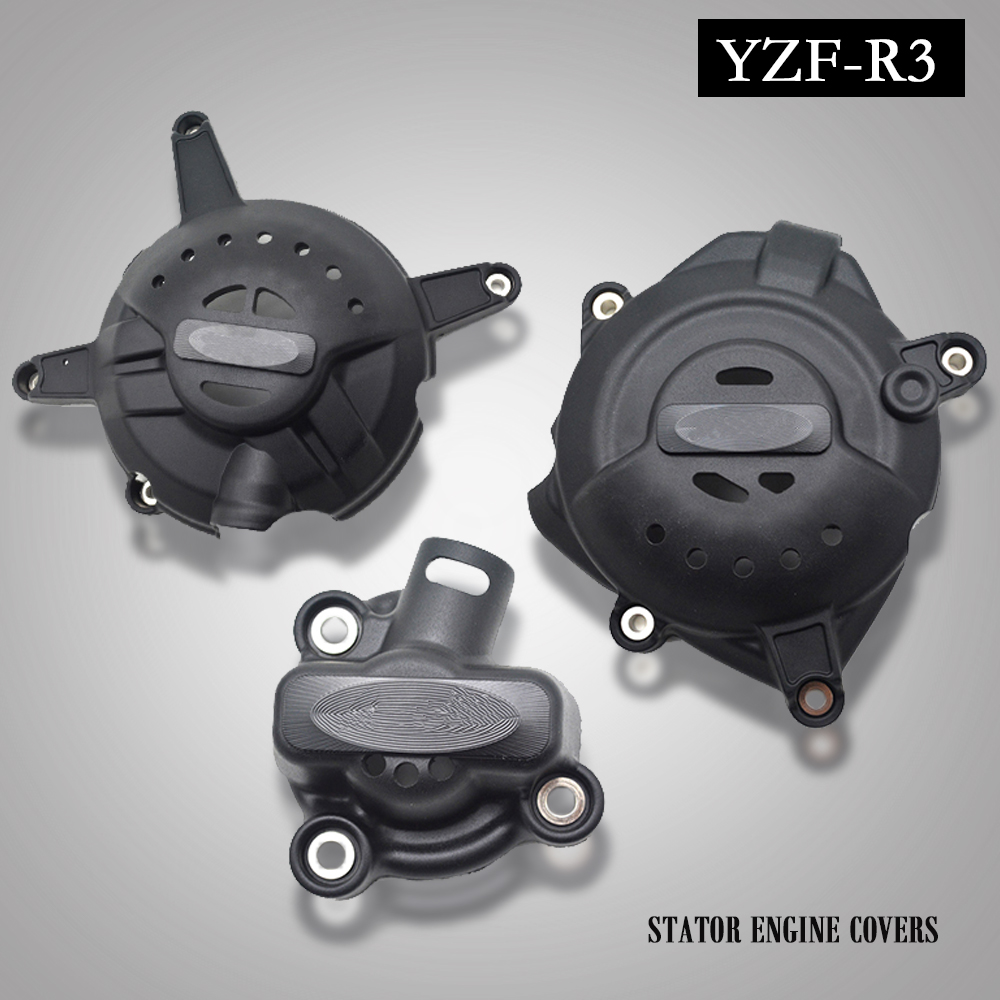 Moto moteur Stator carter de protection couvercle protecteur pour Yamaha YZF R3 YZFR3 2015 2016 Stator Crash Pad curseur protecteur