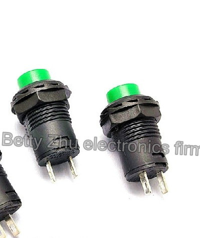 100pcs/lot No Lock Switch / Self-reset Button Switch / Ds-425b-caliber 12mm Green Fragrant (In) Flavor