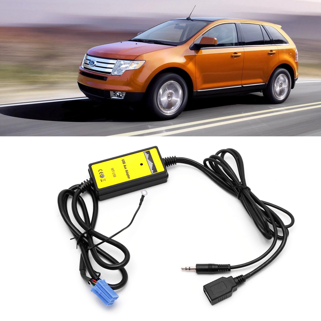 Car Audio MP3 Interface CD Adapter Changer AUX SD USB Data Cable Mini 8P For VW Skoda image