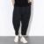 2017 Primavera Verano Nueva Cintura Elástica Hombres Pantalones Casuales de Alta Calidad Masculinos Hombres Pantalón de Pierna Ancha Floja Harem Pant Negro