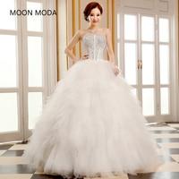 Zomer trouwjurk 2017 nieuwe witte beha Paleis Koreaanse kleine staart staart woord schouder Prinses Diamant