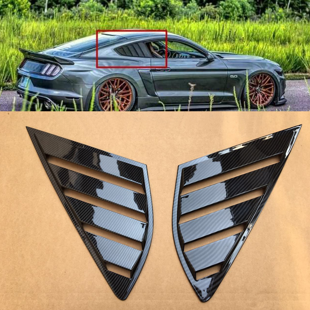 For Ford Fusion Mondeo 2013-2018 4D Sticker Shiny Rear Quarter Panel Window Panel Side Louvers Vent Side Vent leopard panel side leggings