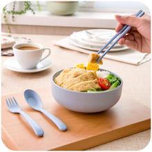 DoreenBeads Eco-Friendly Wheat Straw Bowl Set Noodle Fruit Salad Ice Cream Dessert Tableware School Home Kitchen 4Colors 1Set
