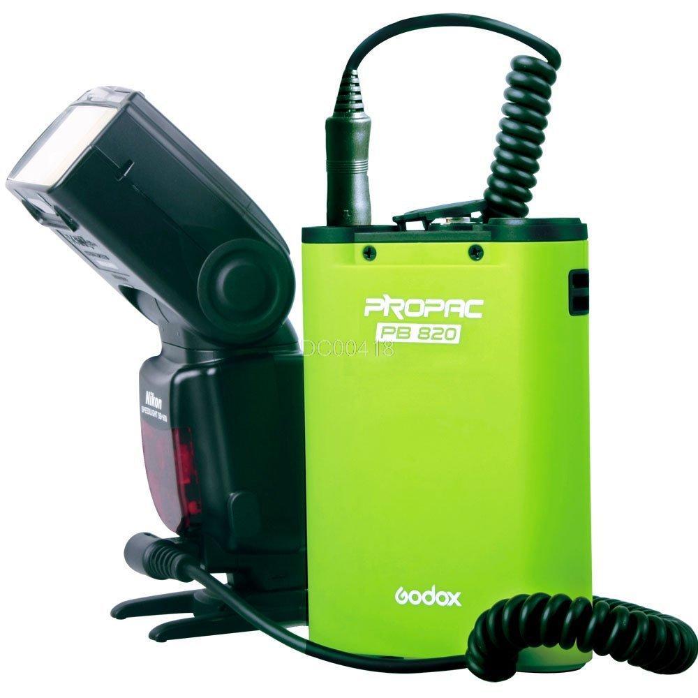 GodoxPB820 High Quality External Flash Power Battery Pack for Canon 580EX2 Nikon SB900 Sony HVL-F58AM Olympus FL-50R