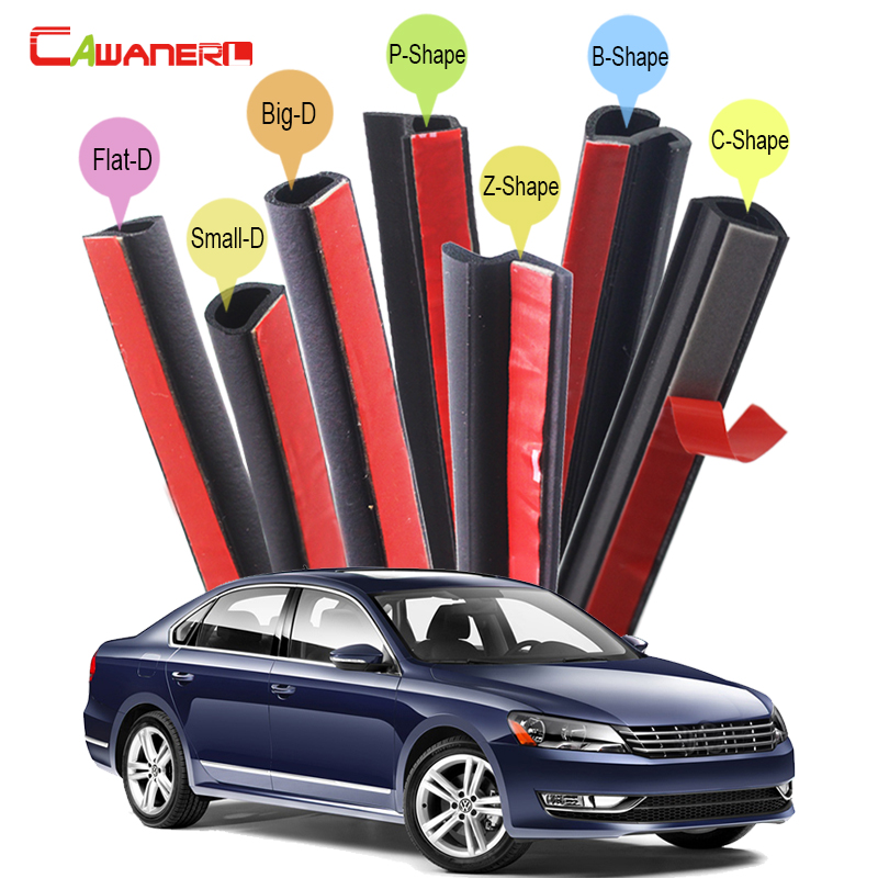 цена на Cawanerl Whole Car Sealing Seal Strip Kit Auto Rubber Weatherstrip Noise Control For VW Volkswagen UP Phaeton Beetle Jetta