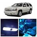 14 pcs Branco Gelo Azul LEVOU Luz Lâmpadas Para 2007-2014 Chevy Chevrolet Tahoe Kit Pacote Interior Iluminação Da Chapa de Licença lâmpada Chevy-EF-13