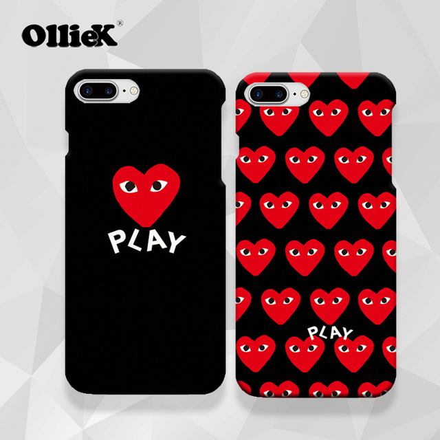 on sale be574 47373 US $6.99  Free shipping New arrive hot couple red heart play design case  for iphone7plus,high quality with full printing cellphone case-in Fitted ...