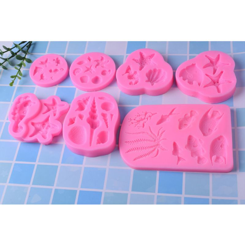 Marine Fish Shell Conch Pendant DIY Silicone Mold Resin Jewelry Making Tools