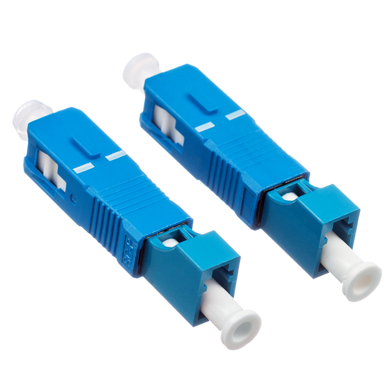 2pcs Free Shipping SC Male To LC Female Fiber Optic Adapter SC-LC Hybrid Optical Adaptor