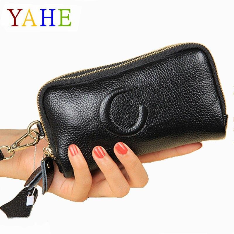 YaHe 2018 Brand Fashion Women Handbags Item Organizer Purses Female Girl Genuine Leather Coin Phone Money Bag Small Clutch Pouch
