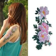 Waterproof Temporary Flower Tattoos Big Temporary Tattoos Fake Chinese Peony Pattern For Leg Arm Back YM-P06