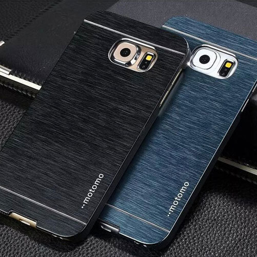 newest 7c881 4886f US $1.89 5% OFF|For Samsung Galaxy S6 case cover S6 edge also available  Luxury brushed metal aluminium material, 1pc retail selling-in Fitted Cases  ...