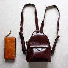 Дизайнерский Бренд Масло воск спилка женская рюкзак небольшой мини 2 размер даул использования девушка причинно сумка Симпатичные bagpack Feminina