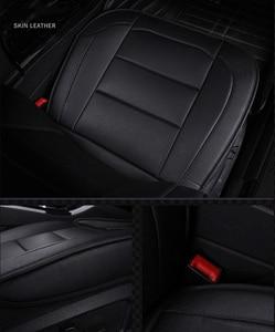 Image 3 - (Vorne + Hinten) universal leder auto sitzbezüge Für Skoda Schnelle Fabia Superb Octavia Yeti autos auto zubehör styling