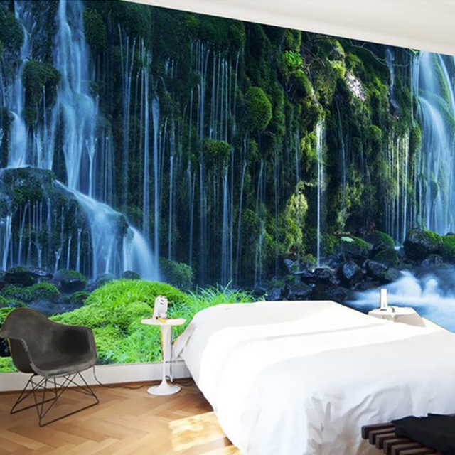 Waterfall Landscape Custom 3D Photo Wallpaper Natural Scenery Wall Murals  Decals Home Decor Wallpaper Roll For Part 66