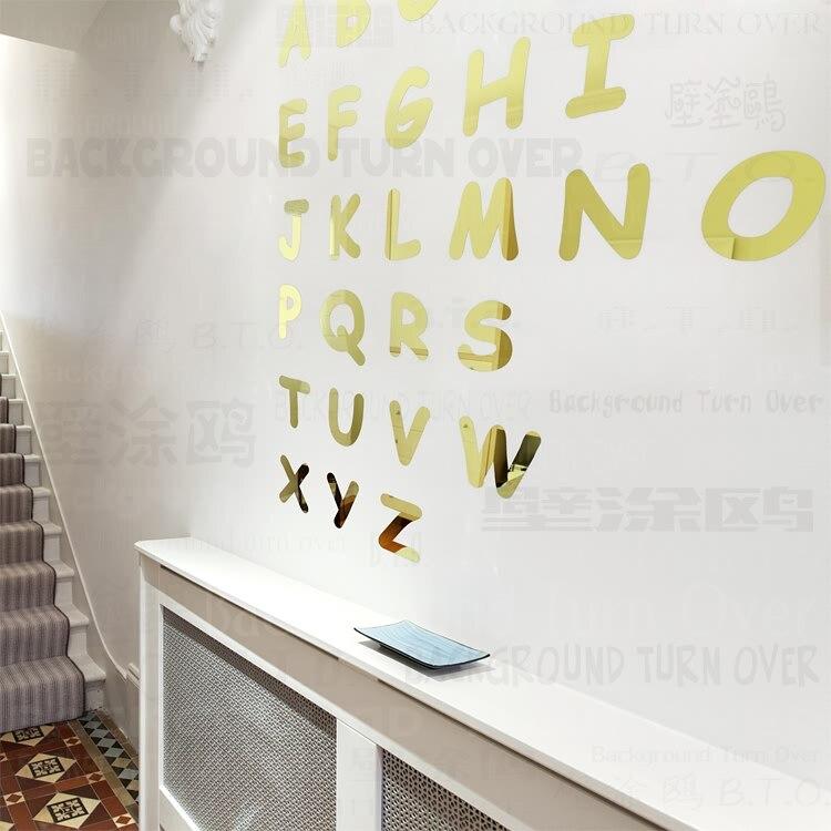 Английские буквы обучения съемный стикер детского сада Детская комната Декор R111