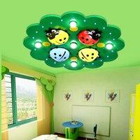 Piękne dzieci pokój Lampy LED lampy sufitowe proste kreatywny cartoon chłopiec dziewczyna oko sypialnia okrągłe lampy sufitowe ZA628 ZL105 YM w Oświetlenie sufitowe od Lampy i oświetlenie na