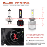 bulb 12v BraveWay 2019 NEW Item 12V CSP Chip Mini H4 LED Headlight H11 H7 LED Lamp for Car Light Bulb 9005 9006 HB3 HB4 H8 H7 LED Bulb H4 (5)