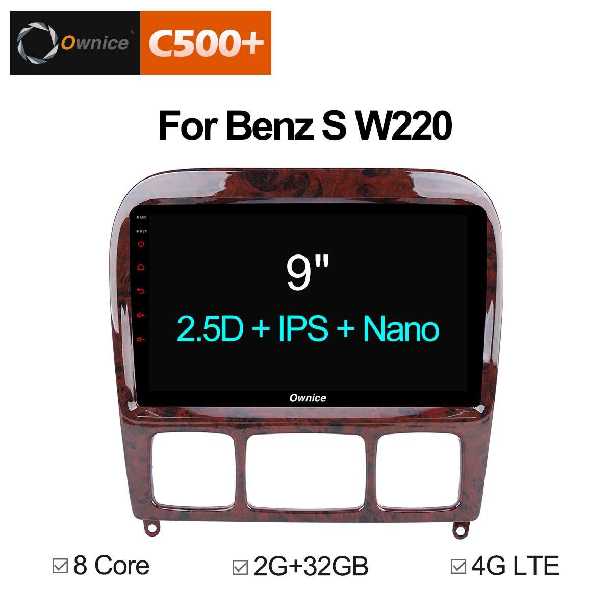 Ownice C500 + G10 Android 8,1 Автомобильный мультимедийный плеер dvd automotivo радио gps 2 din для Mercedes Benz/S320/S350/W220/W215/CL600 4G