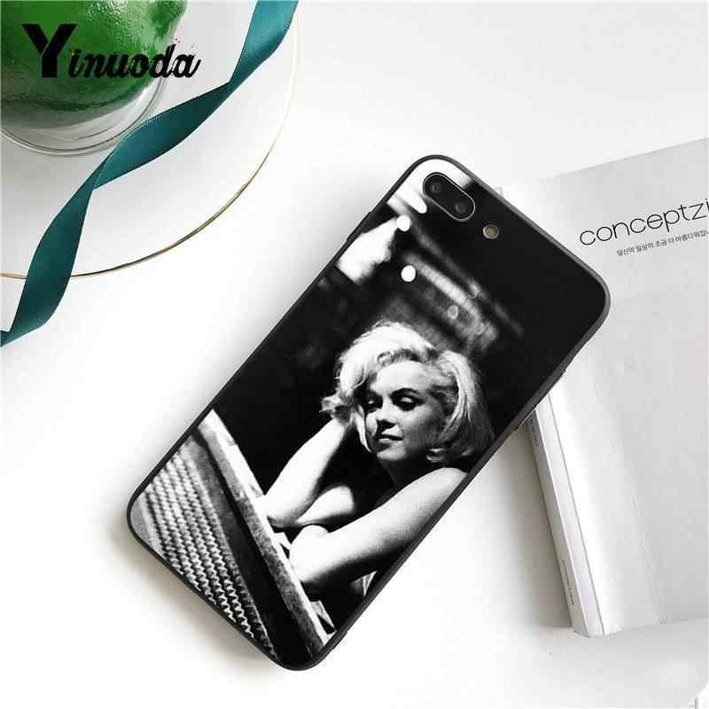 Yinuoda Marilyn Monroe Với Mèo Tùy Chỉnh Hình Mềm Mại Ốp Lưng Điện Thoại Cho iPhone 8 7 6 6S 6Plus X XS MAX 5 5S SE XR 11 11pro 11Promax