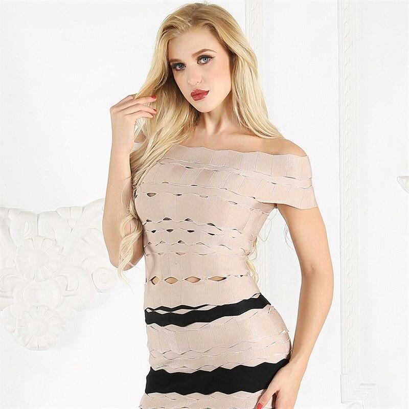 Feminina 新着ファッションオフショルダークロップトップスレディースホローアウトセクシーなセレブパーティーブラウス 最終割引 夏のトップス