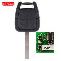 Keyecu سيارة مفتاح بعيد فوب 3 زر 433.92 ميجا هرتز ID40 لأوبل فوكسهول ، gm #24424728 ، hu100 شفرة